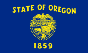 Flag of Oregon USA