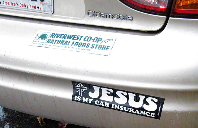 badge: jesus is my car insurance