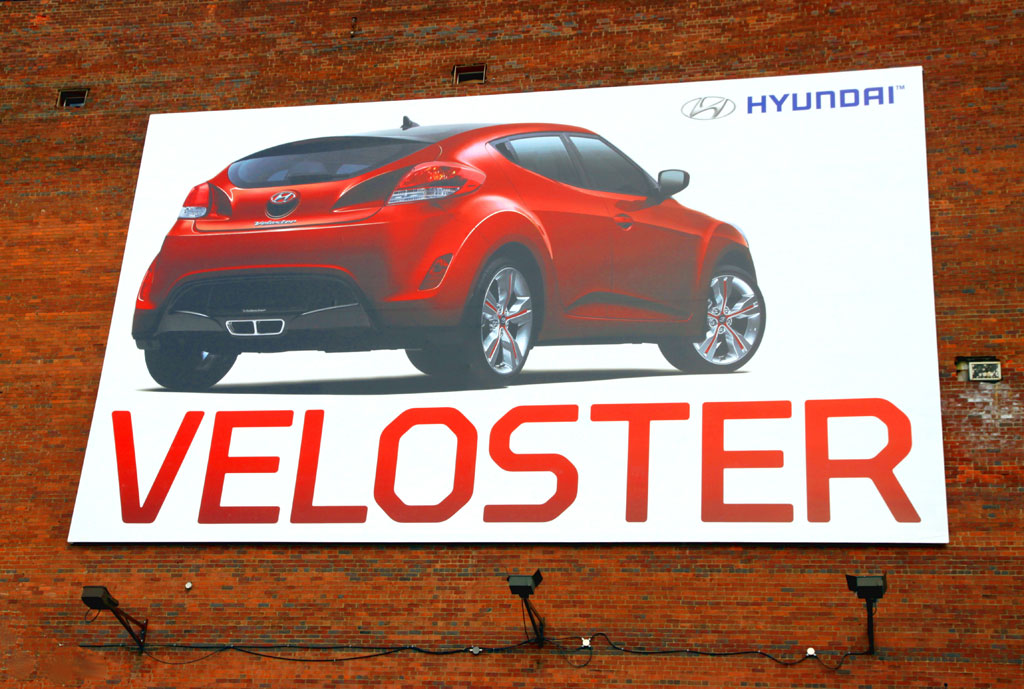 Hyundai Veloster advertising