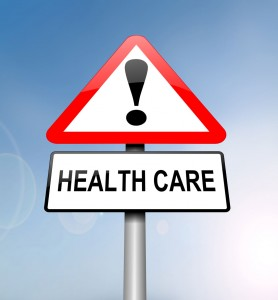 Road sign: Health care