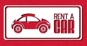 Sign: rent a car