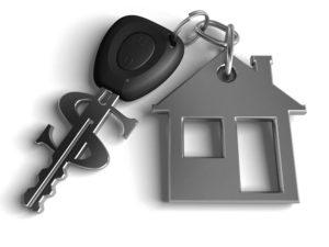 Key chain: Home shape and car keys